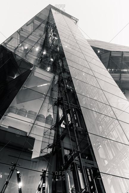 Tokyo, Japan - January 11, 2015: Ultra-modern building