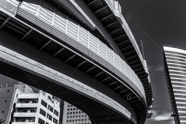 Elevated highway and buildings, Tokyo
