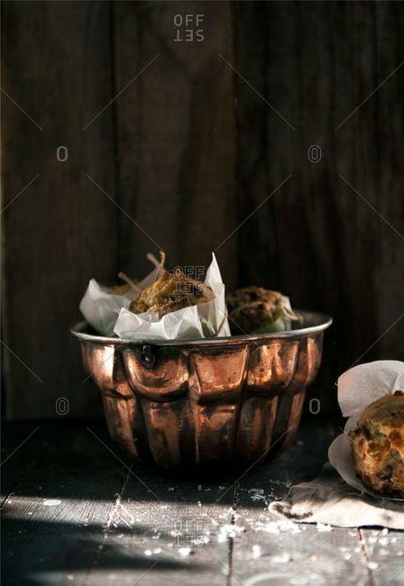 Muffins in a Bundt cake tin