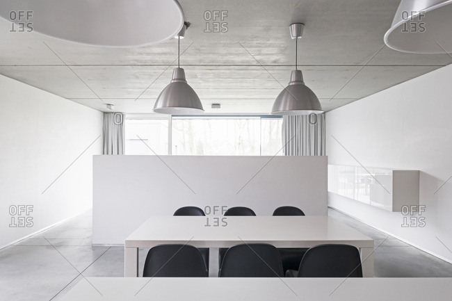 Interior of an architectural firm in Temse, Belgium
