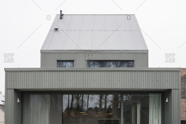 February 12, 2015: Exterior view of an architectural firm in Temse, Belgium