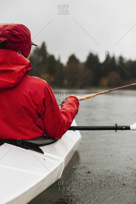 Person fishing in kayak