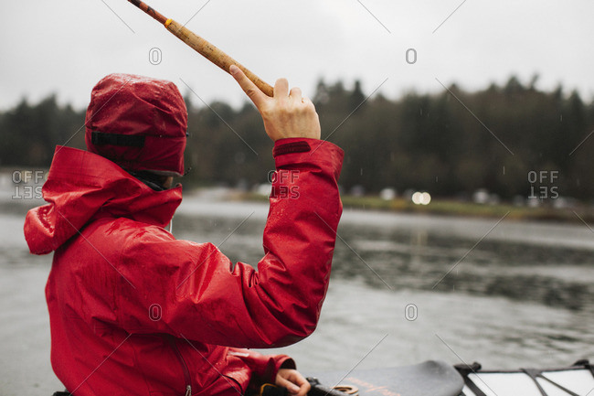 Person fishing from kayak