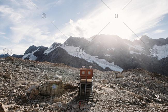 Facility on mountain top