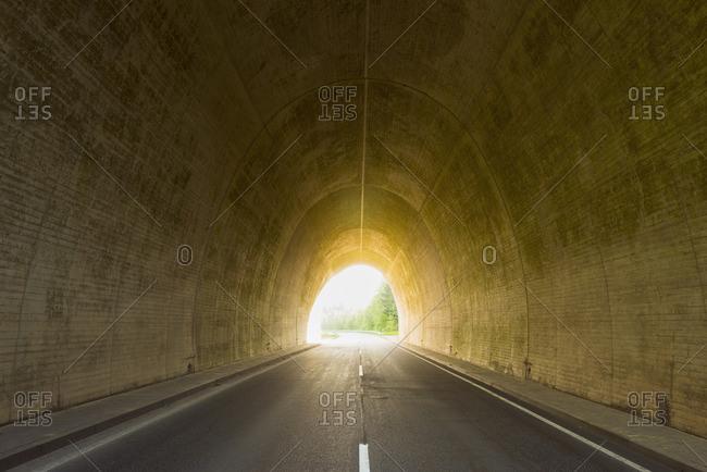 Road through Tunnel, Rhein-Hunsruck-Kreis, Rhineland-Palatinate, Germany