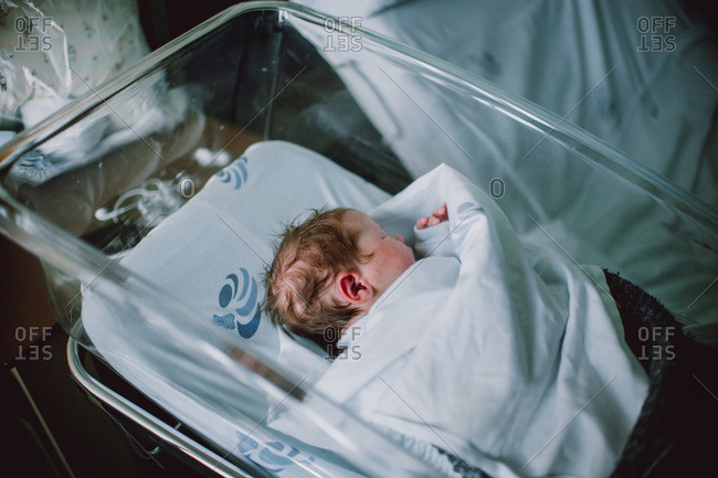 Little newborn taking nap