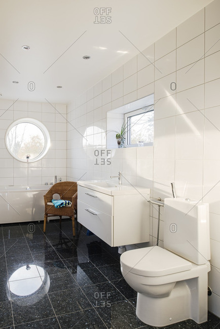 Bathroom in a modern home