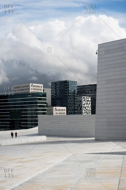 Oslo, Norway - April 30, 2015: Oslo city skyline and the Opera House