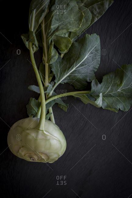 Turnip cabbage on slate board