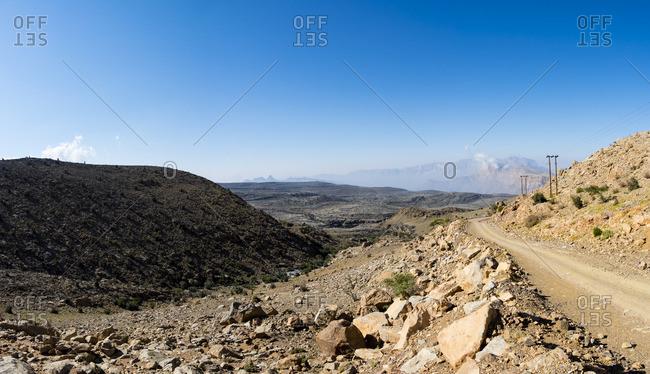 Road by the Wadi Nakhr at Jebel Shams