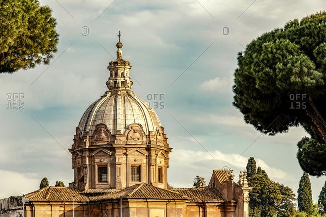 Church Santi Luca e Martina in roman high baroque