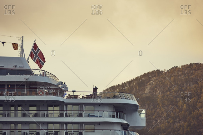 Ferry with Norwegian flag