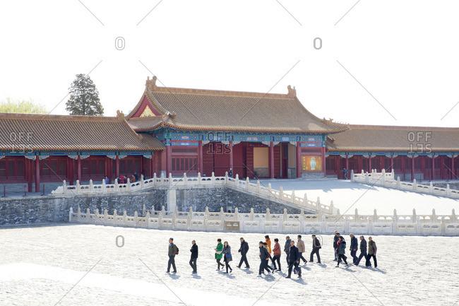 Beijing, China - March 22, 2016: Inside the Forbidden City in Beijing