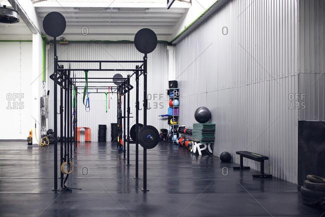 Interior of cross training gym
