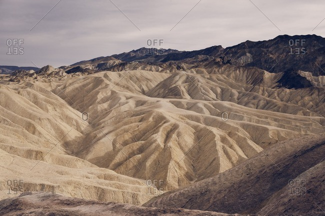 Scenic view of rocky landscape at Death Valley National Park