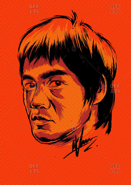 Head of Bruce Lee - Offset