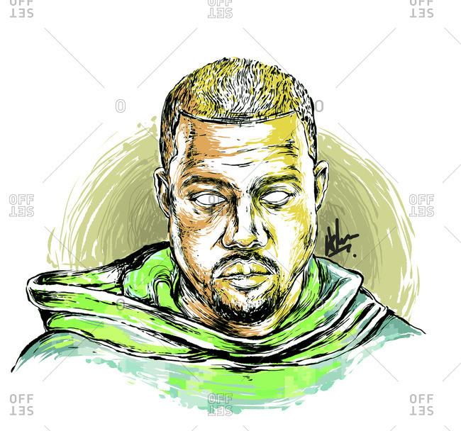 Bust of Kanye West - Offset