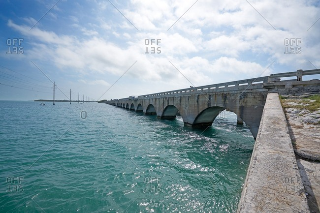 Long Key Viaduct in the Florida Keys near Layton, Florida