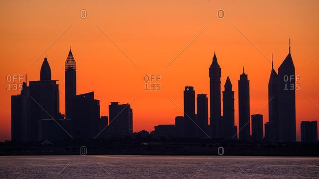 4/21/16: Dubai in glowing sunset