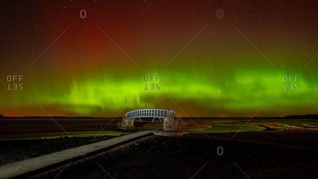 Aurora Borealis over the Bridge to Nowhere