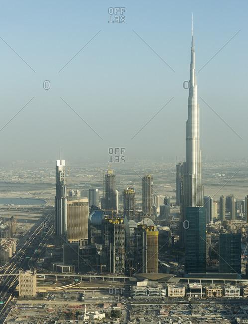 Dubai, United Arab Emirates - February 9, 2016: Modern skyline in Dubai, UAE