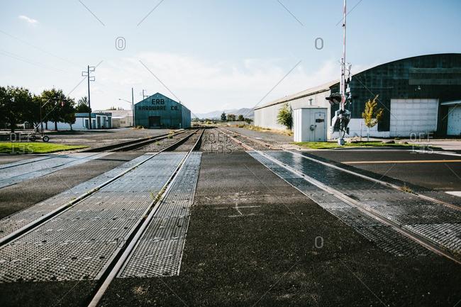 Railroad tracks, Lewiston, Idaho, USA