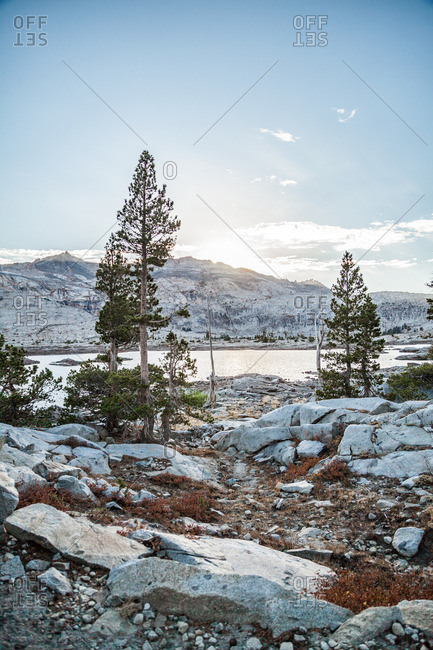 A mountainside lake in Desolation Wilderness near Tahoe, California