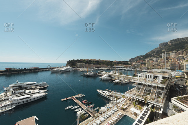 Monte Carlo, Monaco - April 12, 2016: Marina filled with boats