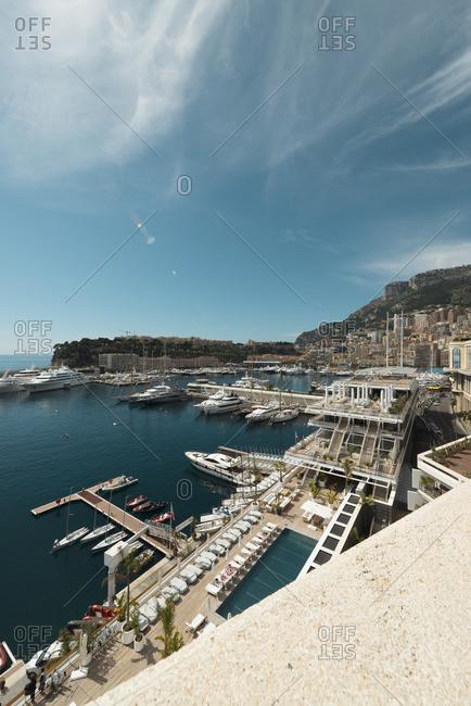 Monte Carlo, Monaco - April 12, 2016: Boats in a marina