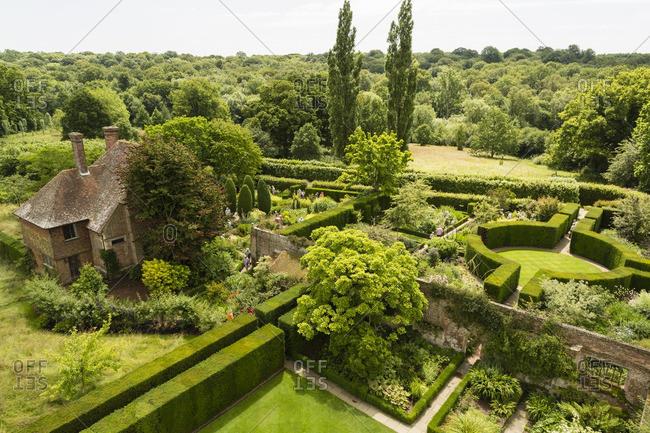 Kent, United Kingdom - July 1, 2014: Sissinghurst Castle and Garden