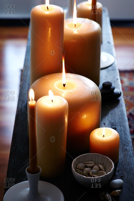 Several lit candles