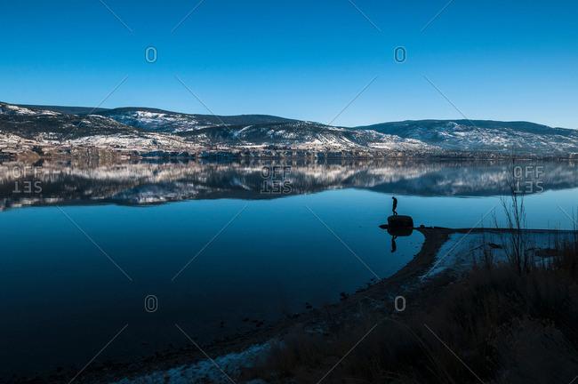 Reflection in Okanagan Lake