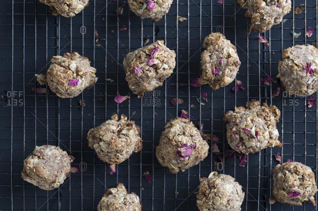 Dried rose cardamom Auryvedic cookies