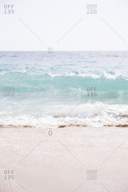 Waves in the Pacific Ocean off Baja, Mexico