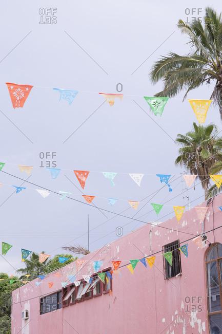Street flags in Todos Santos, Baja, Mexico