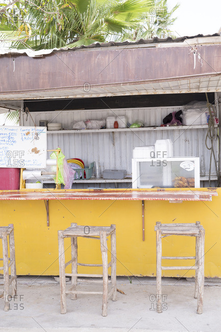Baja, Mexico - June, 18, 2016: Street food vendor in Mexico