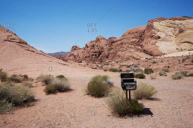 Grill in Valley of Fire State Park, Nevada