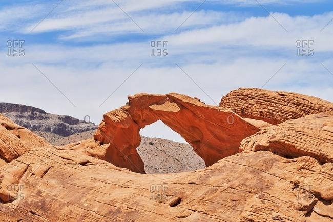 Arch sandstone formation, Nevada