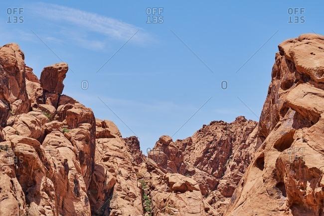 Sandstone peaks in Nevada