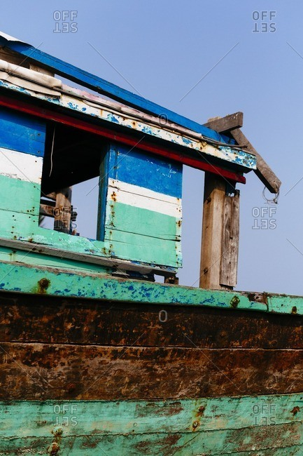 A weathered fishing boat, Vietnam