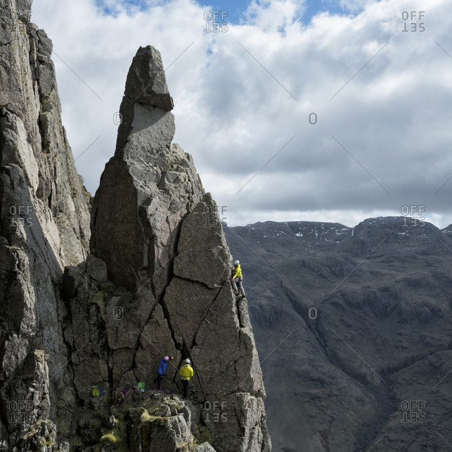 England- Lake District- climbers in Wasdale Valley
