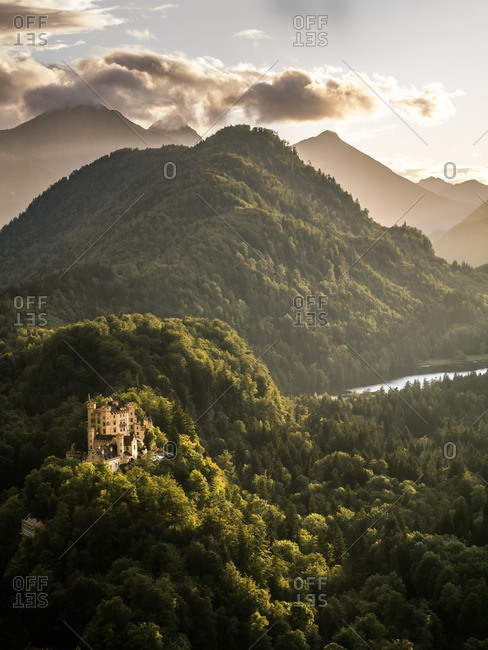 Hohenschwangau Castle in southern Germany
