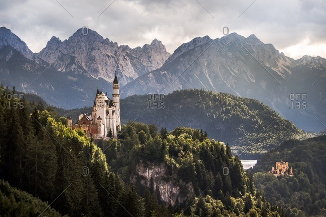 Neuschwanstein Castle in southwest Bavaria, Germany