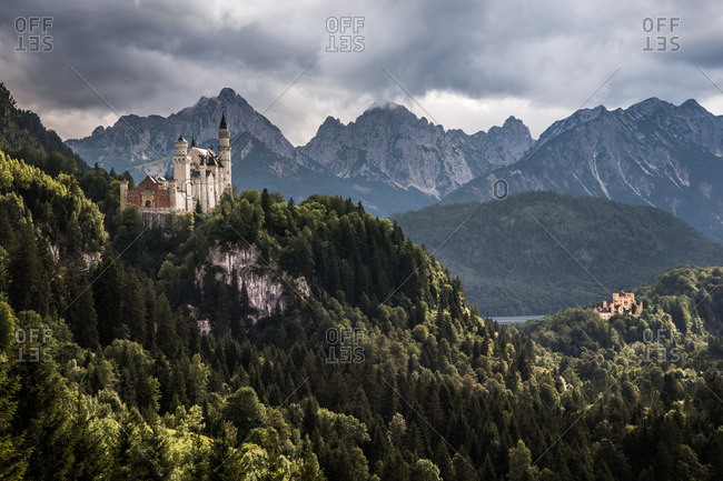 Neuschwanstein Castle in southwest Bavaria