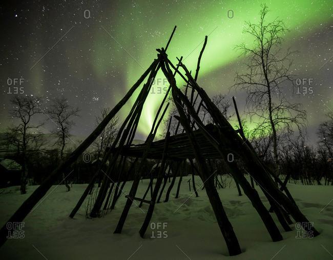 Aurora borealis above Abisko, Sweden
