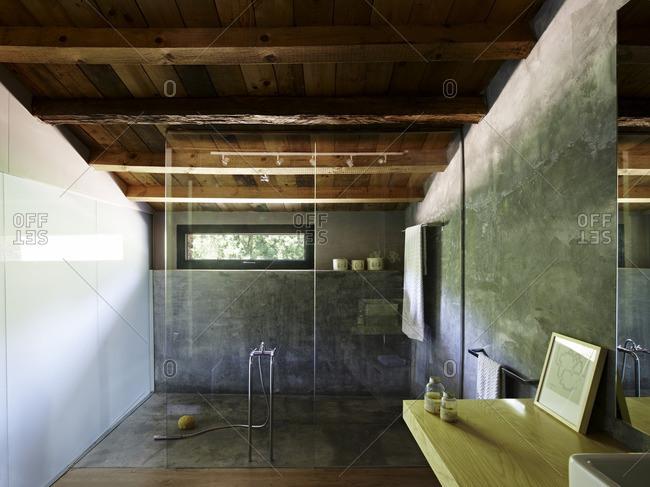 Bathroom in old stone farm