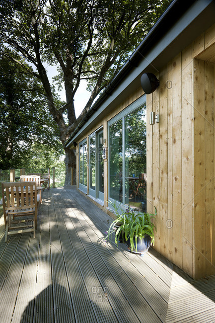 Timber bungalow with terrace