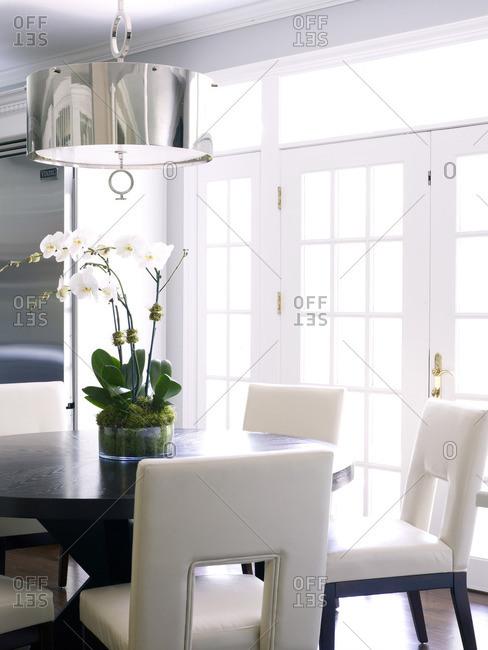 Kitchen vignette in designer Susan Glick's home