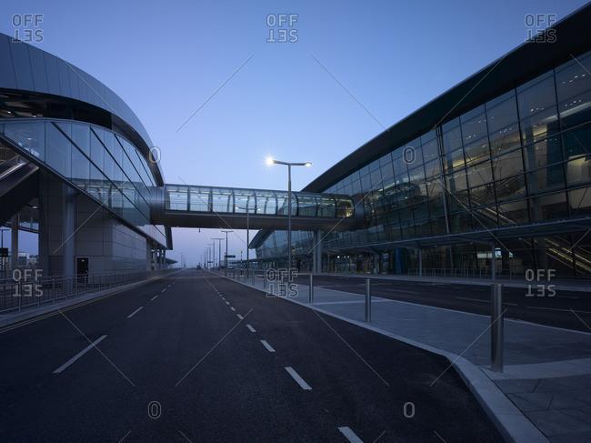 Elevated walkway of Dublin Airport, Terminal 2, Republic of Ireland