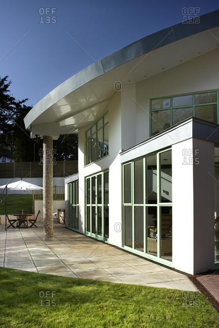 Window facade and terrace